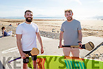 Sean Brennan and Philip Twomey enjoying the sun drenched afternoon on Banna beach on Saturday.