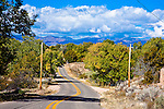 The road to Ranch Jacona, near the Pojoaque Pueblo about 15 miles Northwest of Sante Fe.