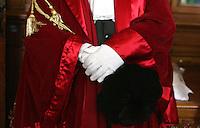 toga da magistrato con cappello e guanti.Magistrate gown with hat and gloves.Roma 29/01/2010 Inaugurazione dell'Anno Giudiziario alla Corte di Cassazione..Opening of the Judicial Year..Photo Samantha Zucchi Insidefoto
