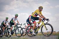 yellow jersey / GC leader Greg Van Avermaet (BEL/BMC)<br /> <br /> Stage 4: La Baule > Sarzeau (192km)<br /> <br /> 105th Tour de France 2018<br /> ©kramon