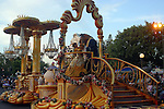 BEAUTY AND THE BEAST ON FLOAT AT DISNEYLAND