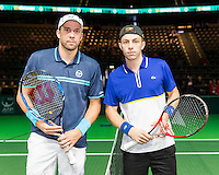 ABN AMRO World Tennis Tournament, Rotterdam, The Netherlands, 14 februari, 2017, Gilles Muller (LUX), Tallon Griekspoor (NED)<br /> Photo: Henk Koster