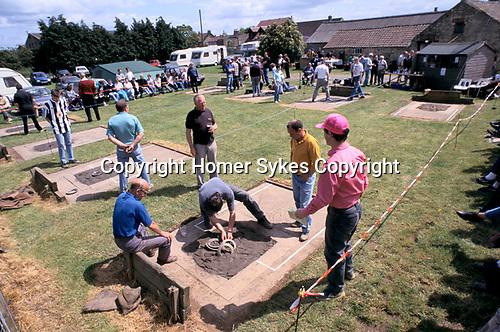 Quoits championship Snape Yorkshire 1990s. Uk.