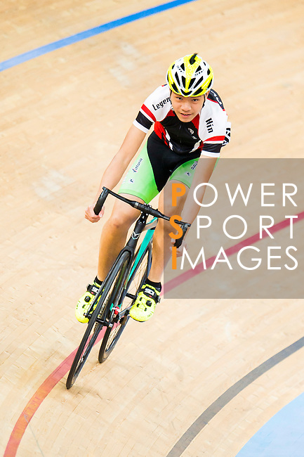 Koo Pak Hin in action during the  Youth 11-13 1km Time Trial (Qualifying) at the Hong Kong Track Cycling Race 2017 Series 5 on 18 February 2017 at the Hong Kong Velodrome in Hong Kong, China. Photo by Marcio Rodrigo Machado / Power Sport Images