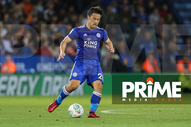 Shinji Okazaki of Leicester City during the English League Cup Round 2 Group North match between Leicester City and Fleetwood Town at the King Power Stadium, Leicester, England on 28 August 2018. Photo by David Horn.