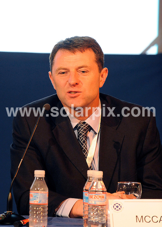 **ALL ROUND PICTURES FROM SOLARPIX.COM**.**WORLDWIDE SYNDICATION RIGHTS**.**Full copy from Tom Worden + 34 680152448.Gerry McCann father of missing child Madeleine McCann gave a speech and press conference today about  in Madrid Spain..This pic:Gerry McCann..JOB REF: 10069         RAM       DATE: 06.10.09.**MUST CREDIT SOLARPIX.COM OR DOUBLE FEE WILL BE CHARGED**.**MUST NOTIFY SOLARPIX OF ONLINE USAGE**.**CALL US ON: +34 952 811 768 or LOW RATE FROM UK 0844 617 7637**
