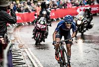 eventual silver medalist Alessio Martinelli (ITA)<br /> <br /> Junior Men road race<br /> from Richmond to Harrogate (148km)<br /> 2019 Road World Championships Yorkshire (GBR)<br /> <br /> ©kramon