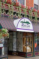 Colorful facade of a local restaurant, Lancaster, Pennsylvania, USA