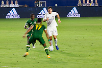 CARSON, CA - OCTOBER 07: Sacha Kljestan #16 of the Los Angeles Galaxy moves with the ball during a game between Portland Timbers and Los Angeles Galaxy at Dignity Heath Sports Park on October 07, 2020 in Carson, California.
