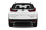 Straight rear view of 2021 Honda CR-V-Hybrid EX 5 Door SUV Rear View  stock images