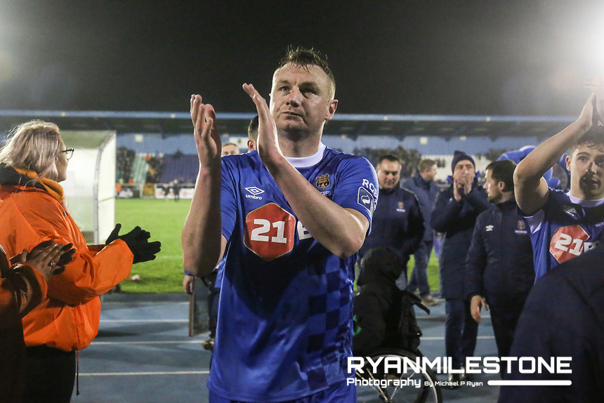 Kenny Browne of Waterford at the end of the SSE Airtricity League Premier Division game between Waterford FC and Cork City on Friday 6th April 2018 at The RSC, Waterford. Photo By Michael P Ryan