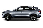 Car Driver side profile view of a 2021 Jaguar F-Pace S 5 Door SUV Side View