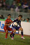 Japan vs Vietnam during the 2014 AFC Women's Asian Cup Group Stage A match on May 16, 2014 at the Thống Nhất Stadium in Hồ Chí Minh City, Vietnam. Photo by World Sport Group