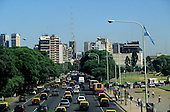 Buenos Aires, Argentina. Rush hour traffic in the city centre.