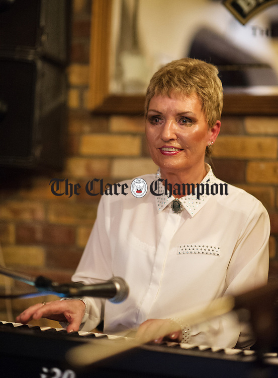 Teresa Mc Mahon on keyboard during a session as part of the Sean Nos and Trad festival at O Connor's Pub in Doolin. Photograph by John Kelly.