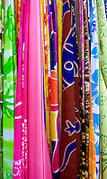 Colorful sarongs remind of a tropical vacation and carefree lifestyle.