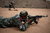 Training commandoes are seen demonstrating their firing skills at the firing range in Chhattisgarh's Counter-terrorism and Jungle Warfare College in Kanker, 145 km from state capital Raipur in Chattisgarh, India.  Photograph: Sanjit Das/Panos for Bloomberg Businessweek