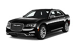 2017 Chrysler 300C Platinum 4 Door Sedan Angular Front stock photos of front three quarter view