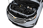 Car stock 2020 Chevrolet Equinox Premier 5 Door SUV engine high angle detail view