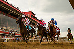 MAY 15, 2021: Rombauer and Flavien Prat settle in the pack on their way to winning the Preakness Stakes at Pimlico Racecourse in Baltimore, Maryland on May 15, 2021. EversEclipse Sportswire/CSM