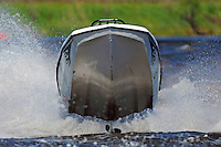 Flying a Tri-Hull shy-high at Port Neches, Texas.