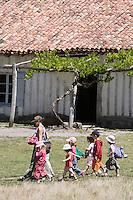 Europe/France/Aquitaine/40/Landes/ Marquèze: Ecomusée de Marquèze, l'Ecomusée de la Grande Lande. Maison Landaise- Colonie de vacances en visite