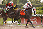 Bahamian Squall with Luis Saez up sprints away from the field to win the Smile Sprint Handicap(G2) at Calder Race Course. Miami Gardens,  Florida. 07-06-2013