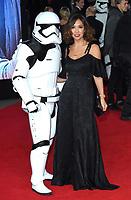"""Myleene Klass<br /> arriving for the """"Star Wars: The Last Jedi"""" film premiere at the Royal Albert Hall, London.<br /> <br /> <br /> ©Ash Knotek  D3363  12/12/2017"""