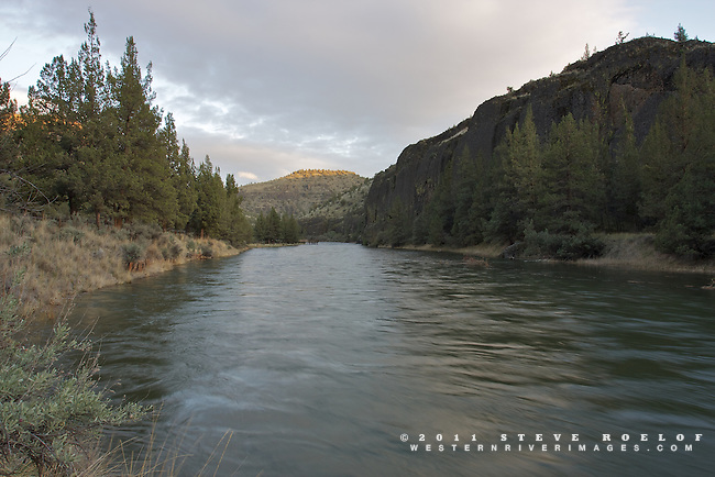 The sun sets along the Crooked River, Oregon.