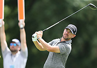 29th August 2021; Owens Mills, Maryland, USA;  Brian Harman (USA) watches his shot from the 9th tee during the final round of the BMW Championship on August 29, 2021, at Caves Valley Golf Club in Owings Mills, MD.