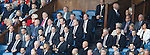 Rangers directors box featuring David Somers, Norman Creighton, Graham Wallace, Sandy Easdale, James Easdale with Ian Hart and Walter Smith sitting across the stairwell