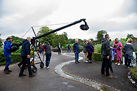 Joanna Hardy during filming of the Antiques Roadshow at The National Botanic Garden of Wales in Carmarthenshire, Wales, UK. Friday 19 July 2019