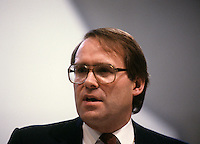 Montreal (Qc) Canada  file Photo -  march 1987 - NDP national convention in Montreal --   Ken Dryden