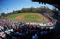 A sold-out crowd filled Foley Field as the LSU Tigers visited the Georgia Bulldogs in SEC baseball action on March 23, 2019 in Athens, Georgia. The Bulldogs defeated the Tigers 2-0. (Brian Westerholt/Four Seam Images)