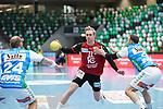 Marian Michalczik (Berlin) am Ball beim Spiel in der Handball Bundesliga, Frisch Auf Goeppingen - Fuechse Berlin.<br /> <br /> Foto © PIX-Sportfotos *** Foto ist honorarpflichtig! *** Auf Anfrage in hoeherer Qualitaet/Aufloesung. Belegexemplar erbeten. Veroeffentlichung ausschliesslich fuer journalistisch-publizistische Zwecke. For editorial use only.
