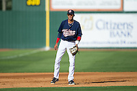 Elizabethton Twins third baseman Nelson Molina (12) on defense against the Johnson City Cardinals at Joe O'Brien Field on July 11, 2015 in Elizabethton, Tennessee.  The Twins defeated the Cardinals 5-1. (Brian Westerholt/Four Seam Images)