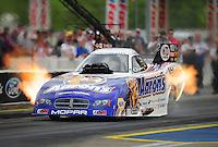 Jun. 19, 2011; Bristol, TN, USA: NHRA funny car driver Jack Beckman during eliminations at the Thunder Valley Nationals at Bristol Dragway. Mandatory Credit: Mark J. Rebilas-