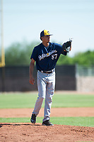 Milwaukee Brewers relief pitcher Luis Gonzalez (87) during an Instructional League game against the San Diego Padres at Peoria Sports Complex on September 21, 2018 in Peoria, Arizona. (Zachary Lucy/Four Seam Images)