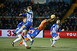 23.01.2019 Kilmarnock v Rangers: Alfredo Morelos goes down and gets the ball into the net and gets a booking