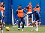 03.05.2019 Rangers training: Jermain Defoe and Graham Dorrans