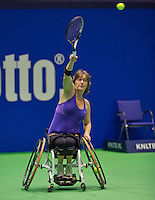 Rotterdam, Netherlands, December 17, 2015,  Topsport Centrum, Lotto NK Tennis, Wheelchair lady's Marlise Peters (NED)<br /> Photo: Tennisimages/Henk Koster