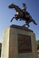 AJ4269, Wilmington, Delaware, Equestrian statue of Caesar Rodney (a Delaware statesman) at Rodney Square in Wilmington in the state of Delaware.