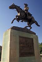 AJ4269, Wilmington, Delaware, Equestrian statue of Caesar Rodney (a Delaware statesman) at Rodney Square in Wilmington in the state of Delaware.
