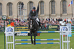 International Jumping in Chantilly France. John Withaker (GBR). Several times european & world champion. 2 place riding Casino