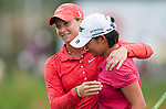 TAOYUAN, TAIWAN - OCTOBER 28:  Suzann Pettersen of Norway embraces Yani Tseng of Taiwan after winning the Sunrise LPGA Taiwan Championship at the Sunrise Golf Course on October 28, 2012 in Taoyuan, Taiwan.  Photo by Victor Fraile / The Power of Sport Images