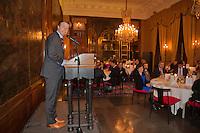 Februari 04, 2015, Apeldoorn, Omnisport, Fed Cup, Netherlands-Slovakia, Official Diner in Het Loo palace, KNLTB Director Erik Poel adresses the guests<br /> Photo: Tennisimages/Henk Koster