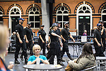 © Joel Goodman - 07973 332324 . 23/06/2016 . Manchester , UK . Police at the count in the EU referendum at Manchester Central convention centre . Photo credit : Joel Goodman