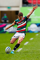 28th March 2021; Mattoli Woods Welford Road Stadium, Leicester, Midlands, England; Premiership Rugby, Leicester Tigers versus Newcastle Falcons; George Ford of Leicester Tigers kicks a penalty