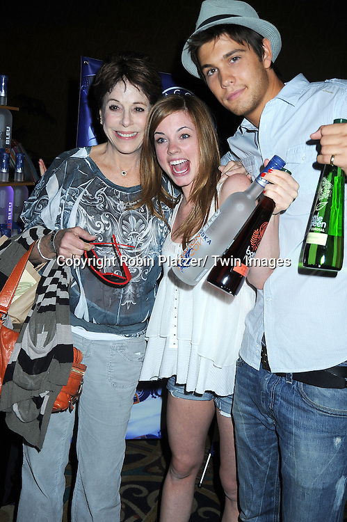 Louise Sorel, Molly Burnett and Casey Jon Deidrick at the Sway Gift Lounge for the Daytime Emmy Awards on June 26, 2010 at The Hilton in Las Vegas