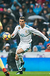 Cristiano Ronaldo (L) of Real Madrid in action during the La Liga 2017-18 match between Real Madrid and Villarreal CF at Santiago Bernabeu Stadium on January 13 2018 in Madrid, Spain. Photo by Diego Gonzalez / Power Sport Images